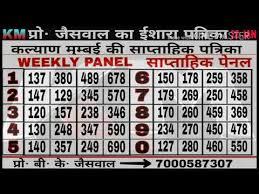 Matka Pana Chart 25 01 2018 Kalyan Mumbai Free Strong Pana Chart Dekho Fir