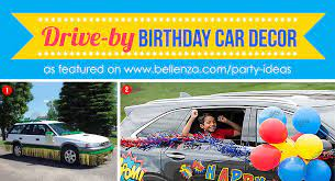 creative drive by birthday parade