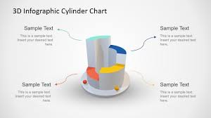 3d Infographic Cylinder Chart