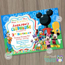Mickey Mouse Clubhouse 2nd Birthday Invitations Mickey Mouse Birthday Invitation Mickey Mouse Clubhouse