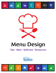 Sysco Menu Design Menu Design For Non Designers By Sysco Eastern Maryland