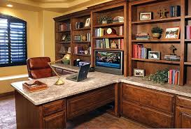 triple seated home office area. Custom Built Office Furniture. In Furniture Home . E Triple Seated Area