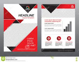 layout flyer template size a cover page red and black tone vector layout flyer template size a4 cover page red and black tone vector design