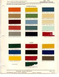 International Paint Color Code Chart International