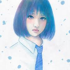 清涼 イラスト 少女 Illustration Girl Drawing Paint Art