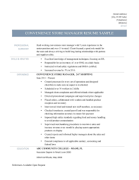 Sample Resume Of Store Manager Convenience Store Manager Resume Samples Online Resume