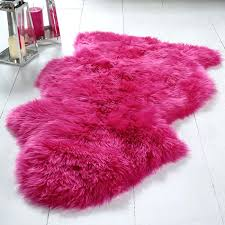pink sheep skin rug nuloom faux sheepskin rug pink hot pink faux sheepskin rug
