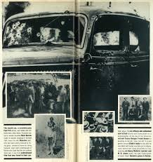 the whole shootin match the death car a cordoba gray ford v 8 was riddled 167