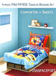 paw patrol toddler bedding set bed in a bag crib boys girls sheets full