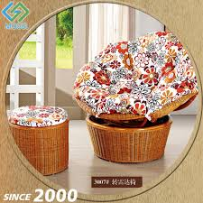 high output indoor modern cane big round chair with foot rest big round chair cushions rattan round chairs big round
