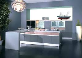 high gloss lacquer kitchen cabinets grey pink with white quartz stone spray paint for cupboards lacq
