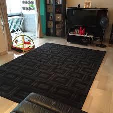 Must See HUGE Black Charcoal Area Rug Carpet For Sale Home