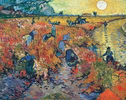 vincent van gogh s 1888 painting the red vineyards at arles
