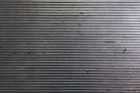 Riveting Corrugated Metal Sheet Texture Together With Free