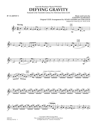defying gravity sheet music download defying gravity from wicked bb clarinet 2 sheet music