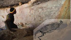 Scientists discover kangaroo <b>painted</b> more than 17,000 years ago is ...