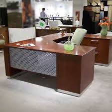 designer office tables. Exellent Tables Image Is Loading MODERNUSHAPEDEXECUTIVEDESKWithMetaland And Designer Office Tables