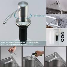 bslino anna184 stainless steel built in pump kitchen sink dish soap dispenser large capacity 17 oz bottle 3 15 inch threaded for thick deck