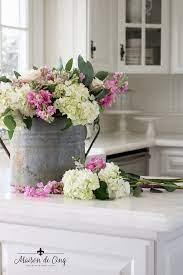 Simple Spring Styling Flowers Vignettes In The Kitchen Spring Decor Western Home Decor Cheap Fall Decor