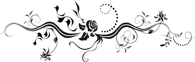 花のイラストフリー素材フレーム枠no312白黒バラ茎葉