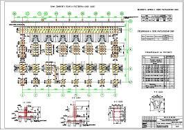 Диплом ПГС промышленное здание завод по производству  6 План свайного поля и ростверка