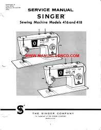 Singer Industrial Sewing Machine Manuals Free