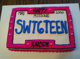 Sweet 16 License Plate Birthday Cake Cakes Ive Made Sweet 16