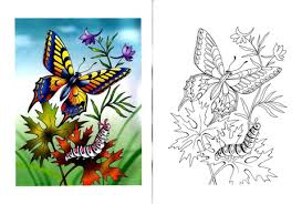 Small Picture Swallowtail Butterfly and Caterpillar coloring page Free