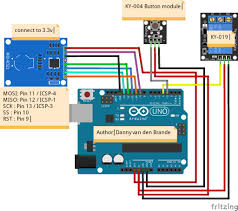 door access control arduino and rfid rc522 arduino tutorial connect wire like the schematic above