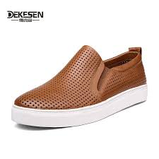Derksen man breathable <b>leather</b> shoes <b>men's large size</b> shoes 45 to ...