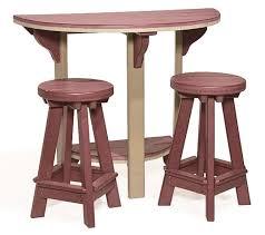 canova beach half round bar table countryside amish furniture inside half circle bar table plan