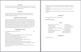 Teacher Resume Samples Cool Cv Of Teacher Samples Bino48terrainsco