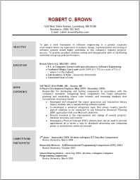Resumes Objectives Resume Template Samples Of Resumes Objectives Shocking Cv Career 10