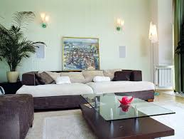 ... Design Featuring Contemporary Wall Sconces And Linen Upholstered Soft  Gray Sofa Rustic Wall ...
