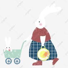 Hình ảnh Phim Hoạt Hình Búp Bê Thỏ Thỏ Mẹ đẩy Xe Búp Bê Thỏ Mẹ Với Tình Yêu Phim  Hoạt Hình Thỏ Mẹ đẩy Búp Bê Xe Miễn Phí, Xe, Thỏ,