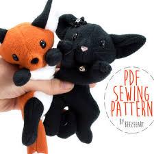 Plush Pattern Extraordinary Fox And Cat Stuffed Animal Sewing From BeeZeeArt Quick Saves
