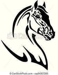 tribal horse head clip art.  Art Horse Head Logo  Csp54307285 With Tribal Horse Head Clip Art
