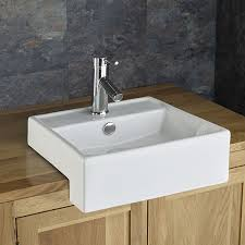 you re curly on home gandra 38cm x 38cm semi recessed square inset countertop bathroom sink