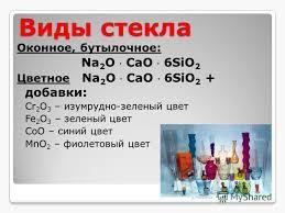 Презентация на тему Силикатная промышленность Химия класс  17 Виды стекла
