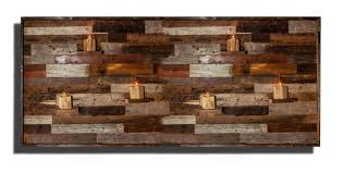 wood wall art with floating wood shelves made of reclaimed barnwood diffe sizes