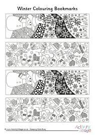 These christmas bookmarks are great for winter class parties. Winter Doodle Colouring Bookmarks Coloring Bookmarks Coloring Bookmarks Free Christmas Bookmarks