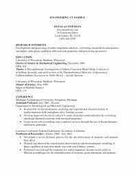 Chemical Engineer Resume Format New Diploma Mechanical Engineering