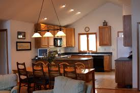 vaulted ceiling lighting home