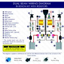 kensun installation hid led headlights bi xenon resistors wiring diagram