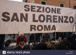 Rom, Italien. 27 Okt, 2018. Rom, Italien, 27. Oktober, zwei gegensätzliche  Demonstrationen Präsidium der Forza Nuova, an der Piazza di Porta Maggiore,  um für Gerechtigkeit bitten nach dem Mord an Desiree Mariottini