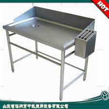 supermarket used stainless steel fish cleaning table with head board fish cleaning table stainless steel fish cleaning table sink table with head