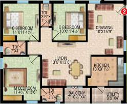 awesome design ideas 1500 sq ft ground floor plans 14 sq ft 3 bhk 3t apartment