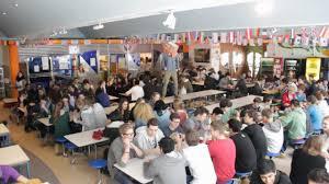 high school cafeteria. High School Cafeteria