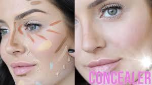 no foundation makeup tutorial concealer hacks