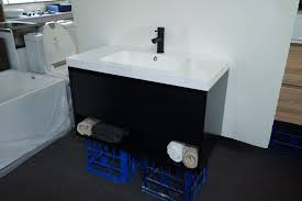 bathroom vanity black. Variation-of-EDEN-900mm-Matte-Black-Polyurethane-Wall- Bathroom Vanity Black